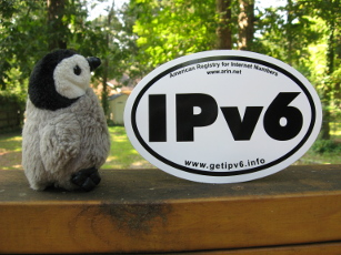 Yuri and an IPv6 sticker